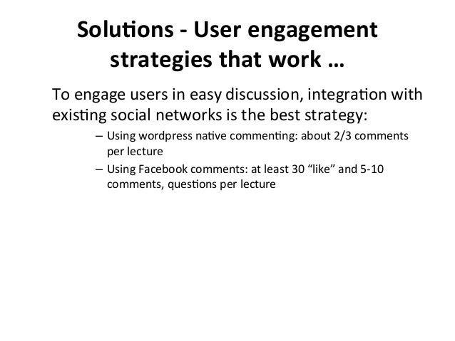 SoluBons  -‐  User  engagement   strategies  that  work  …   To  engage  users  in  easy  discu...