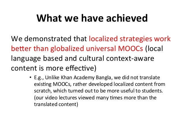 What  we  have  achieved   We  demonstrated  that  localized  strategies  work   beker  than  glob...