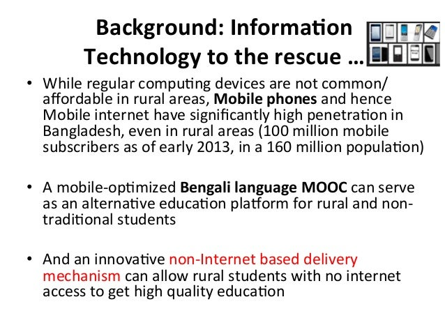 Background:  InformaBon   Technology  to  the  rescue  …   • While  regular  compu?ng  devices  are...