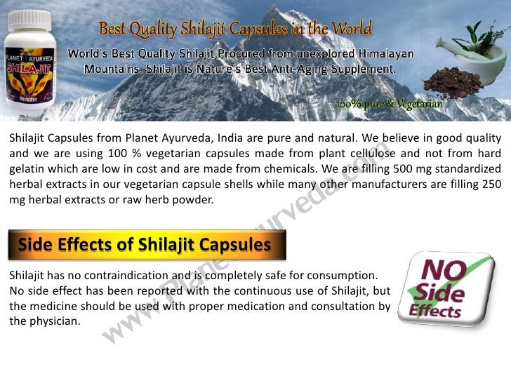 Shilajit Capsules from Planet Ayurveda, India are pure and natural. We believe in good qualityand we are using 100 % veget...