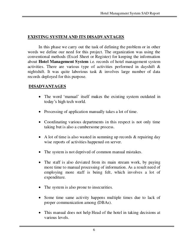 hotel management system literature review pdf