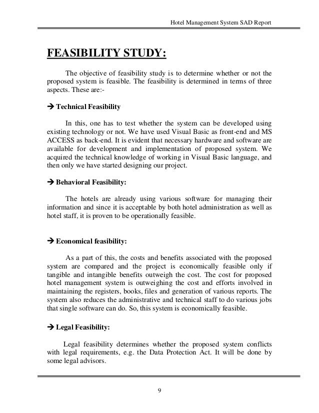 feasibility study of a new hotel Analysis of the market, feasibility study, river terrace hotel  in 2008 alone,  several new luxury brand hotels were opened such as the sheraton and.