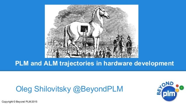 PLM and ALM trajectories in hardware development Oleg Shilovitsky @BeyondPLM Copyright © Beyond PLM 2015