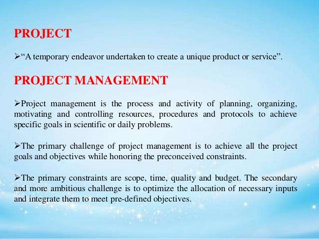 Project inventory Slide 2