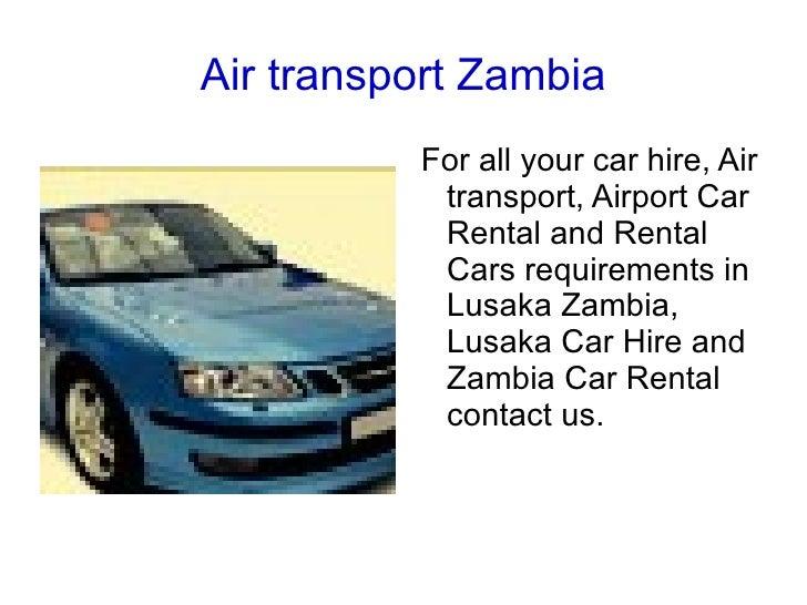Car Hire Lusaka Airport Zambia