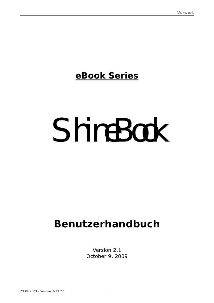 Shine Book Users Manual Deutsch