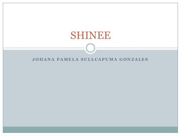 SHINEE  JOHANA PAMELA SULLCAPUMA GONZALES