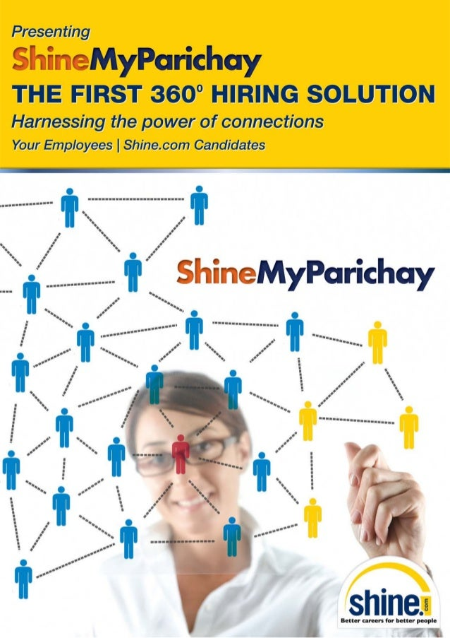 Presenting ShineMyPcIrichcIy THE FIRST 360° HIRING SOLUTION  Harnessing the power of connections Your Employees |  Shine. ...