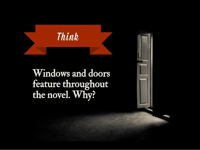 Windows and doors feature throughout the novel. Why? Think