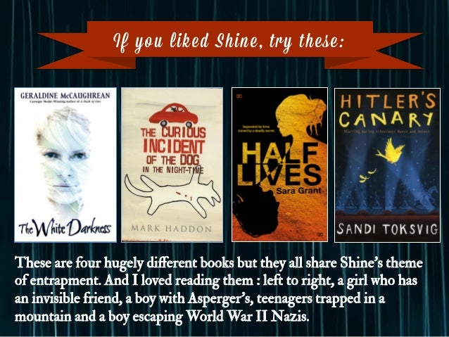 If you liked Shine, try these: These are four hugely different books but they all share Shine's theme of entrapment. And I ...