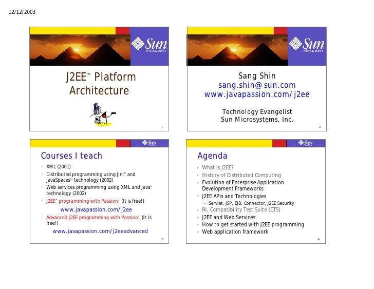 12/12/2003                               J2EE Platform                                   TM                               ...