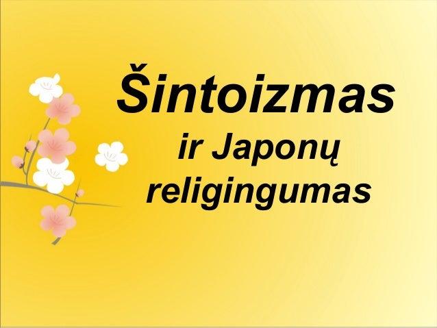 Šintoizmas ir Japonų religingumas