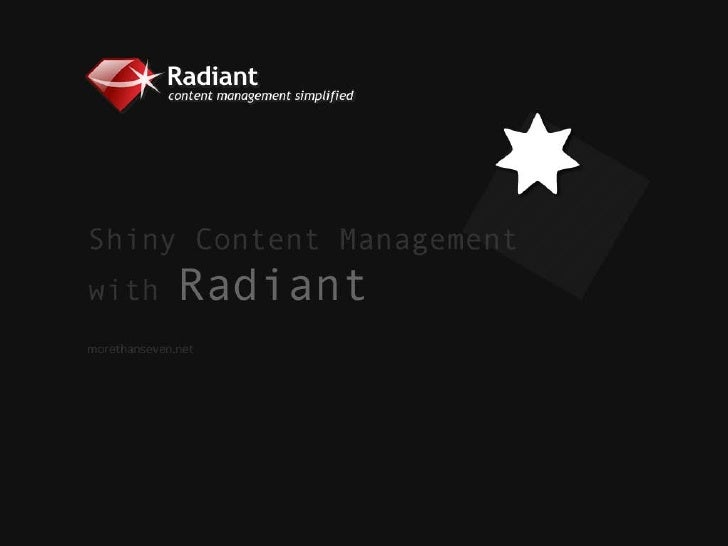 Shiny Content Management with Radiant