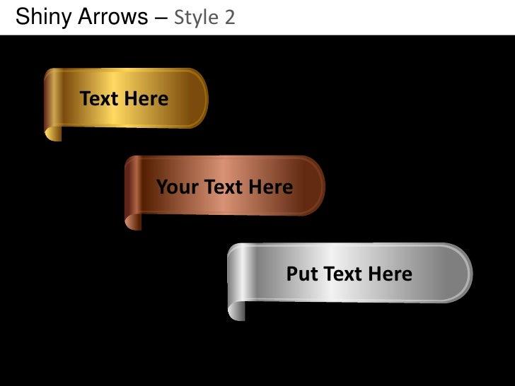 Shiny Arrows Style 2 Powerpoint Presentation Templates