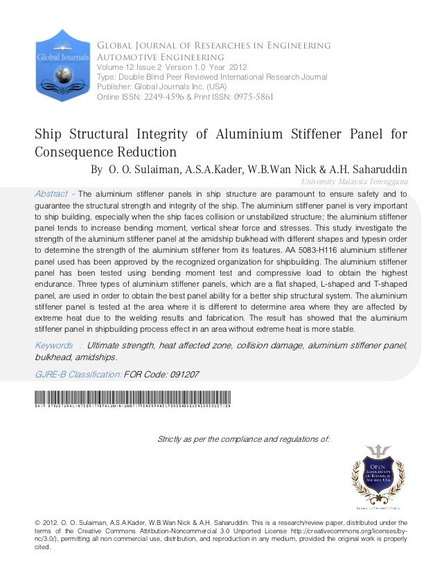 Global Journal of Researches in Engineering                      Automotive Engineering                      Volume 12 Iss...
