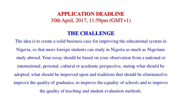Essay writing help competition 2017 in nigeria