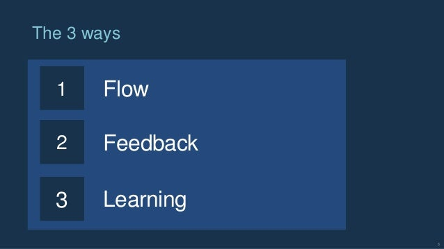 5 The 3 ways 1 Flow 2 3 Feedback Learning