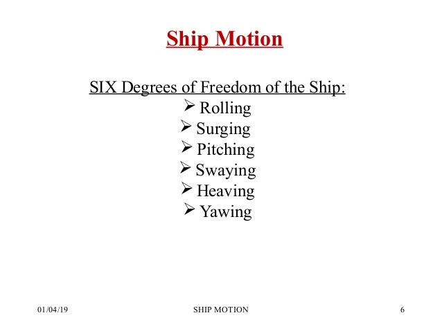 Ship Motion and Stresses