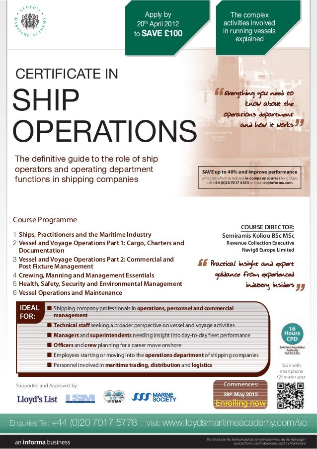 COURSE DIRECTOR: Semiramis Koliou BSc MSc Revenue Collection Executive Navig8 Europe Limited PPrraaccttiiccaall iinnssiigg...