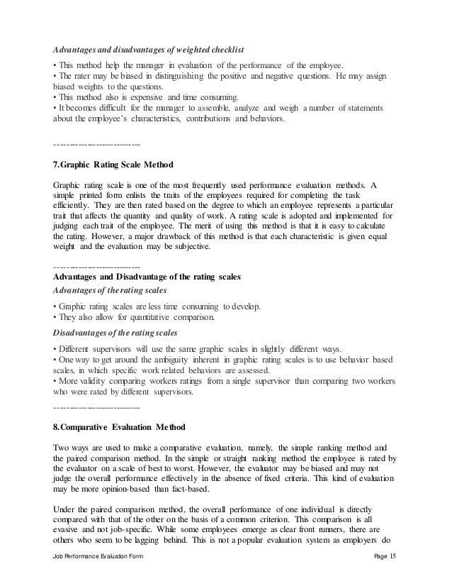 15. Job Performance Evaluation ...
