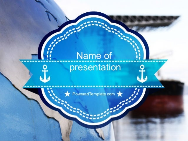 shipping company powerpoint template by poweredtemplatecom
