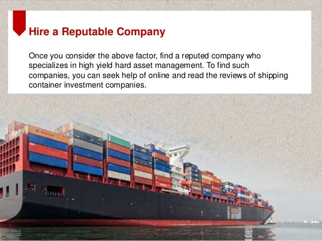 Shipping container investment review investment banking salary uk 2021