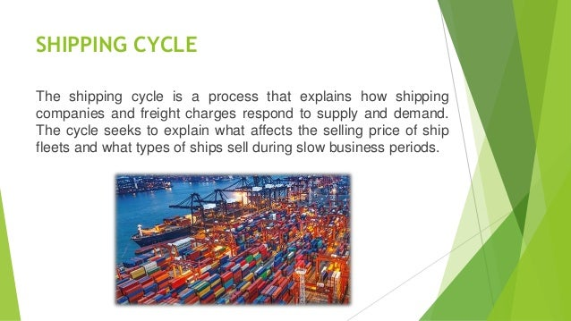 Shipping cycle in maritime transport
