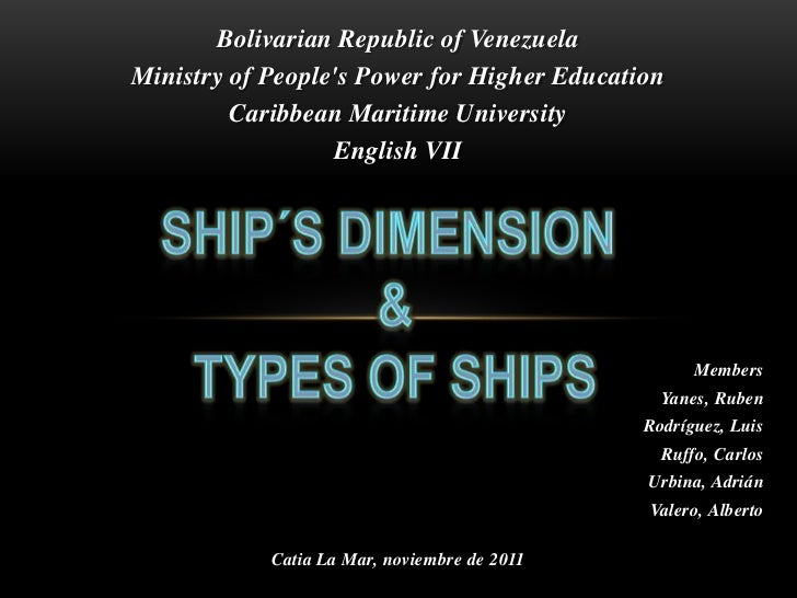 Bolivarian Republic of VenezuelaMinistry of Peoples Power for Higher Education         Caribbean Maritime University      ...