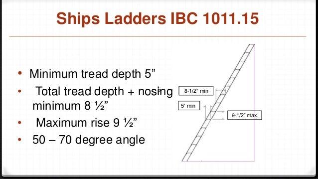 Ships Ladder Osha Code 1910 25 And Ibc 1011 15 Code
