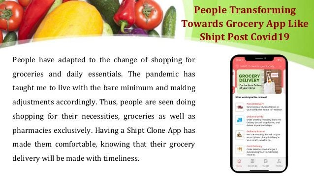 People Transforming Towards Grocery App Like Shipt Post Covid19 People have adapted to the change of shopping for grocerie...