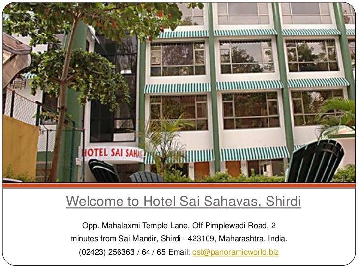 Hotel Sai Sahavas Book Budget Hotels In Shirdi Near Temple