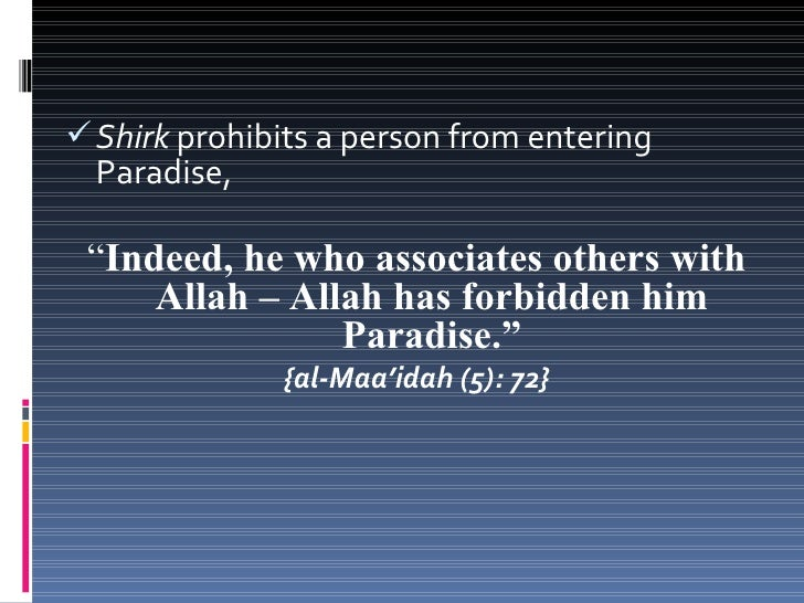 """ Shirk is so evil that it destroys all of a person's  good deeds, """"And it was already revealed to you and to      those b..."""