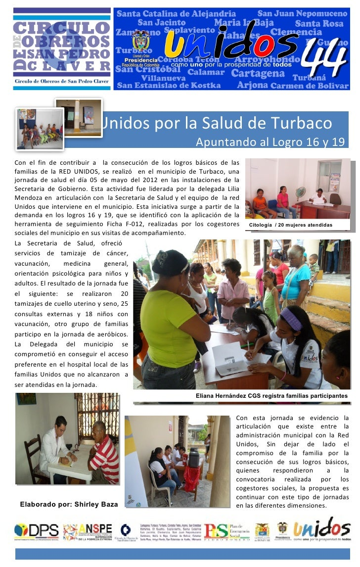 Unidos por la Salud de Turbaco                                                            Apuntando al Logro 16 y 19Con el...