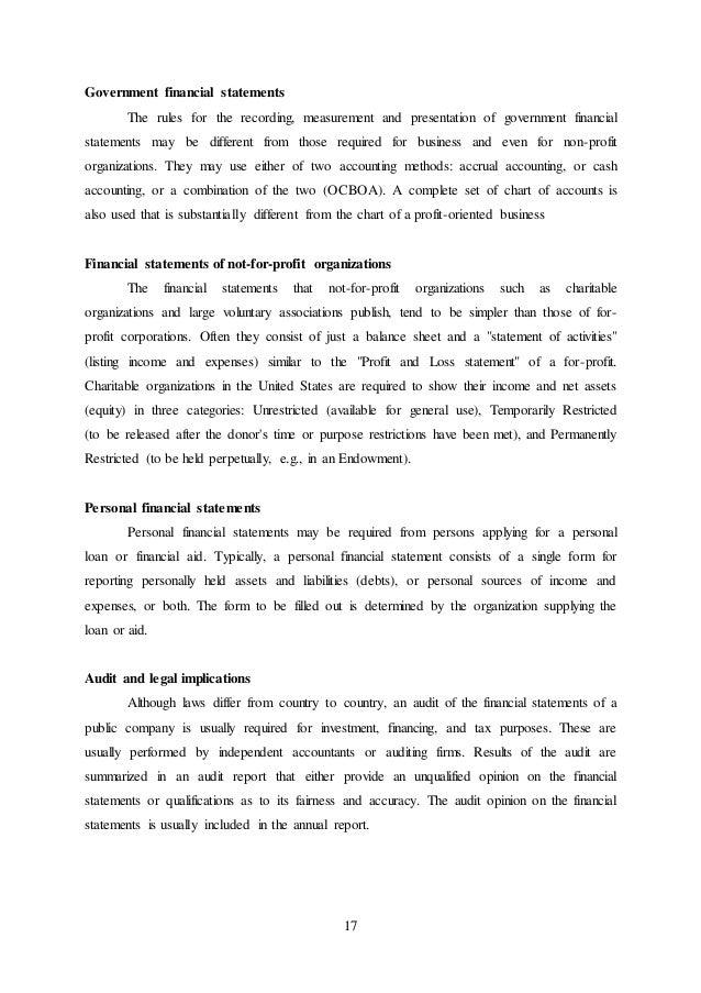 Financial Statement Bharath Bag Works Nizamabad