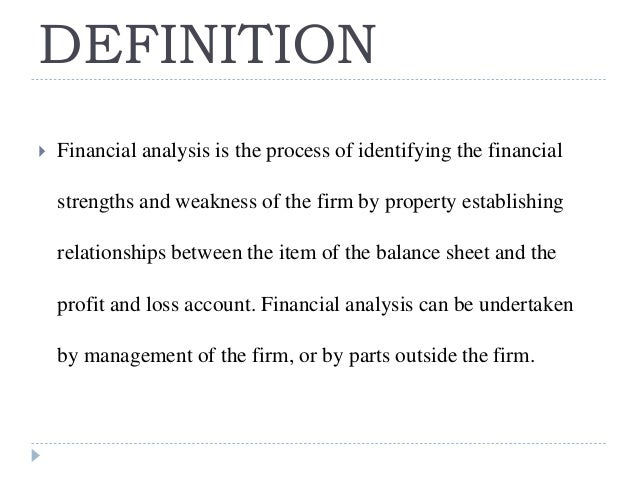 Financial Statement Analysis Ppt