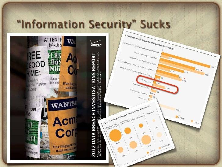 """Information Security"" Sucks                                                                                              ..."