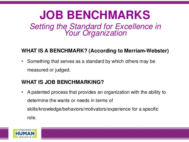 benchmark jobs See the latest benchmark jobs on totaljobs get benchmark jobs sent direct to your email and apply online today we'll get you noticed.