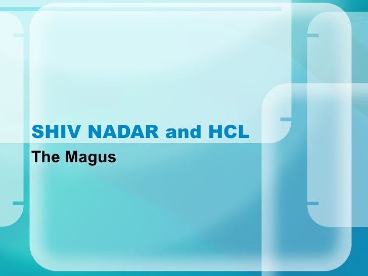 SHIV NADAR and HCL The Magus