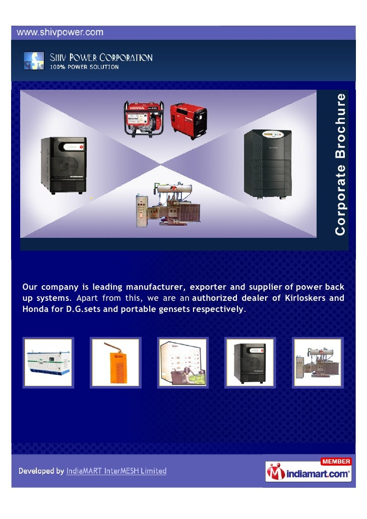 Our company is leading manufacturer, exporter and supplier of power backup systems. Apart from this, we are an authorized ...