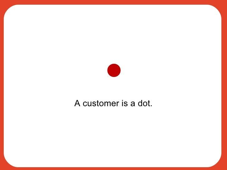 A customer is a dot.