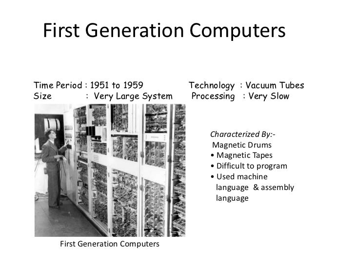 generation of computers Computer - generations generation in computer terminology is a change in technology a computer is/was being used initially, the generation term was used to distinguish between varying hardware technologies nowadays, generation includes both hardware and software, which together make up an entire computer system.