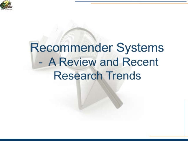 Contents • What is a recommender system? • Year wise distribution of research work on recommender system(2010-2014) • What...