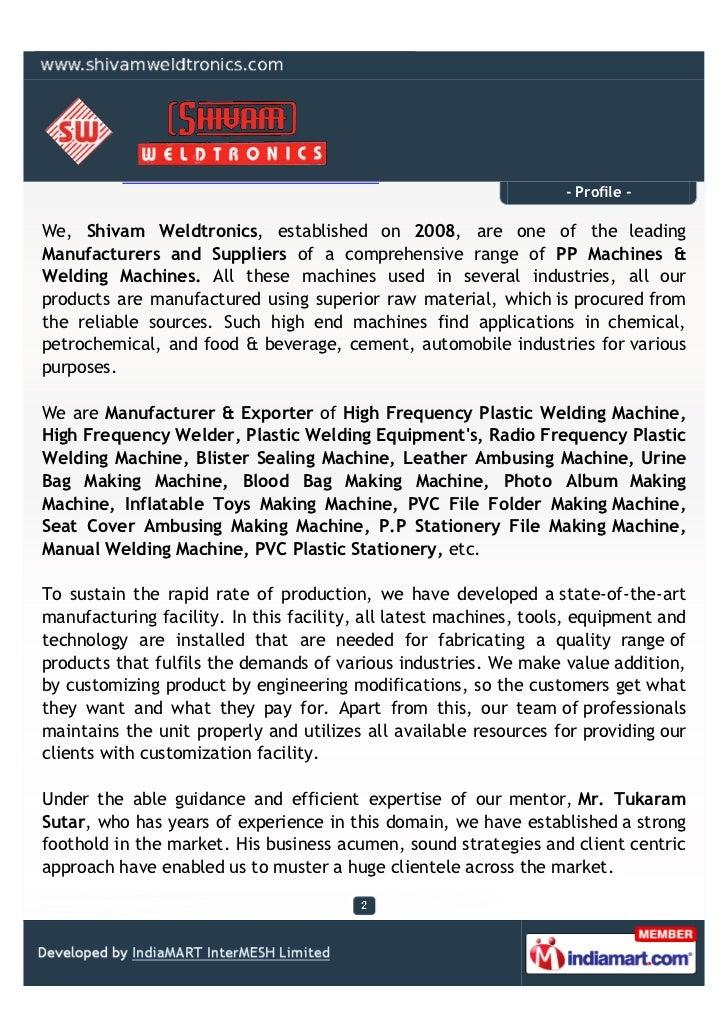 Shivam Weldtronics, Mumbai, Welding Machine Slide 2