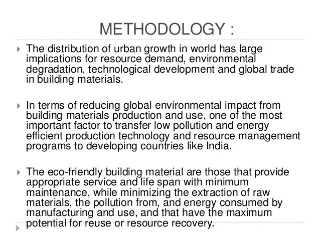 use of eco friendly materials in construction
