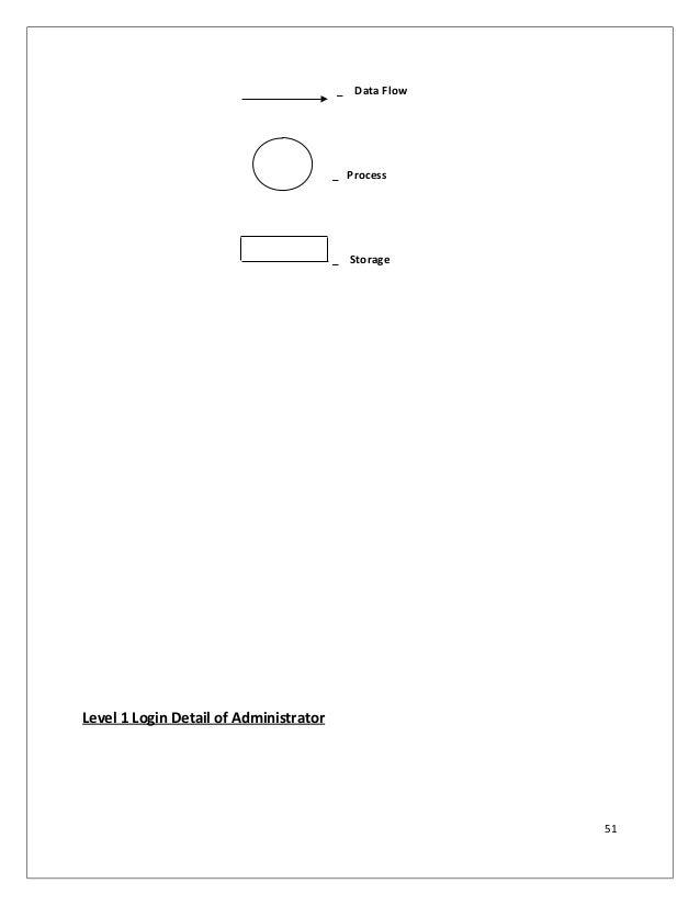 _ Data Flow _ Process _ Storage Level 1 Login Detail of Administrator 51