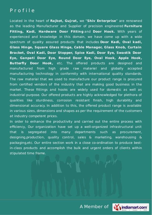 "A Member of P r o f i l e Located in the heart of Rajkot, Gujrat, we ""Shiv Enterprise"" are renowned as the leading Manufac..."