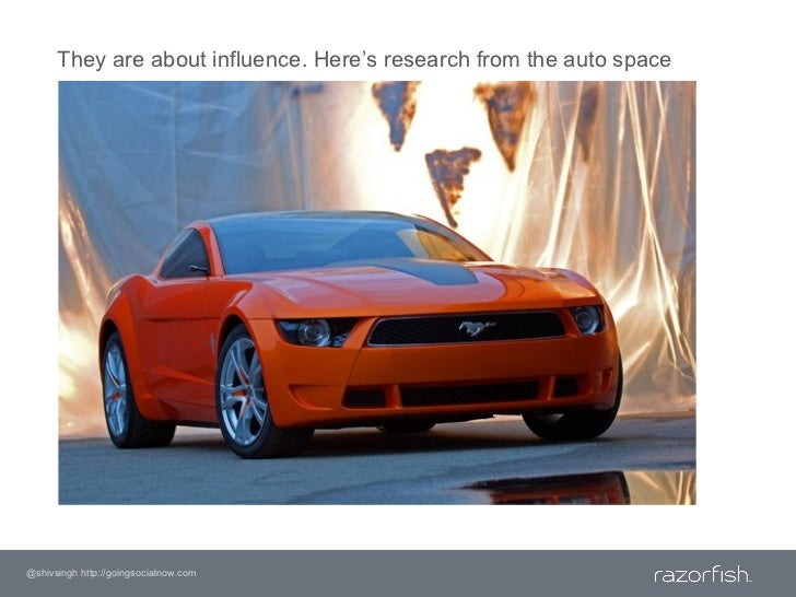 They are about influence. Here's research from the auto space<br />@shivsingh http://goingsocialnow.com<br />
