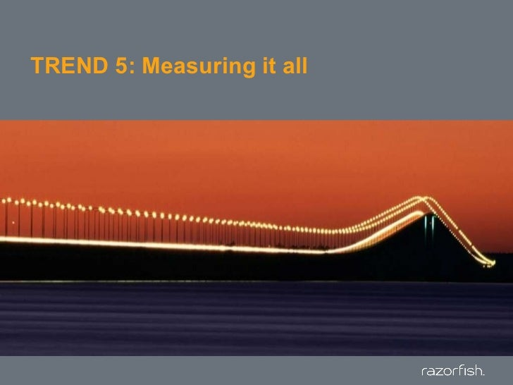 TREND 5: Measuring it all<br />