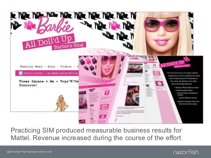Practicing SIM produced measurable business results for Mattel. Revenue increased during the course of the effort<br />@sh...