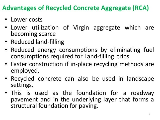 Recycled Concrete Aggregate Rca Used In Subbase